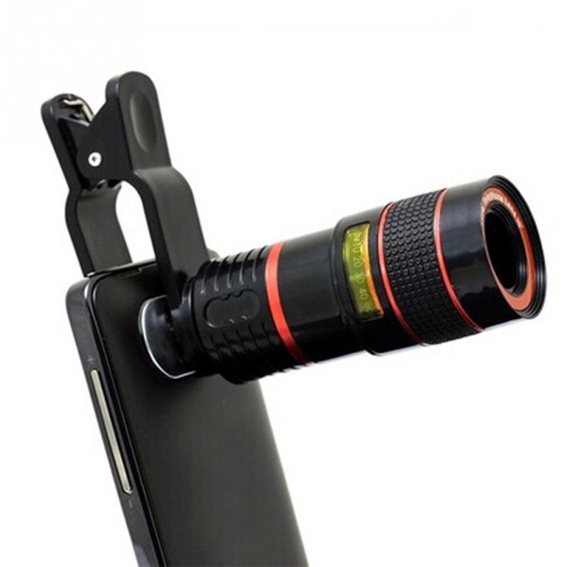 Universal 8X 12X Optical Zoom Telescope Camera Lens Clip Mobile Phone Telescope fisheye lens in Mobile Phone Lens from Cellphones Telecommunications