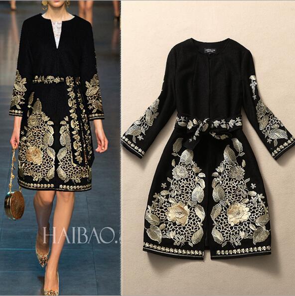 Catwalk style winter font b women b font font b coats b font elegant o neck