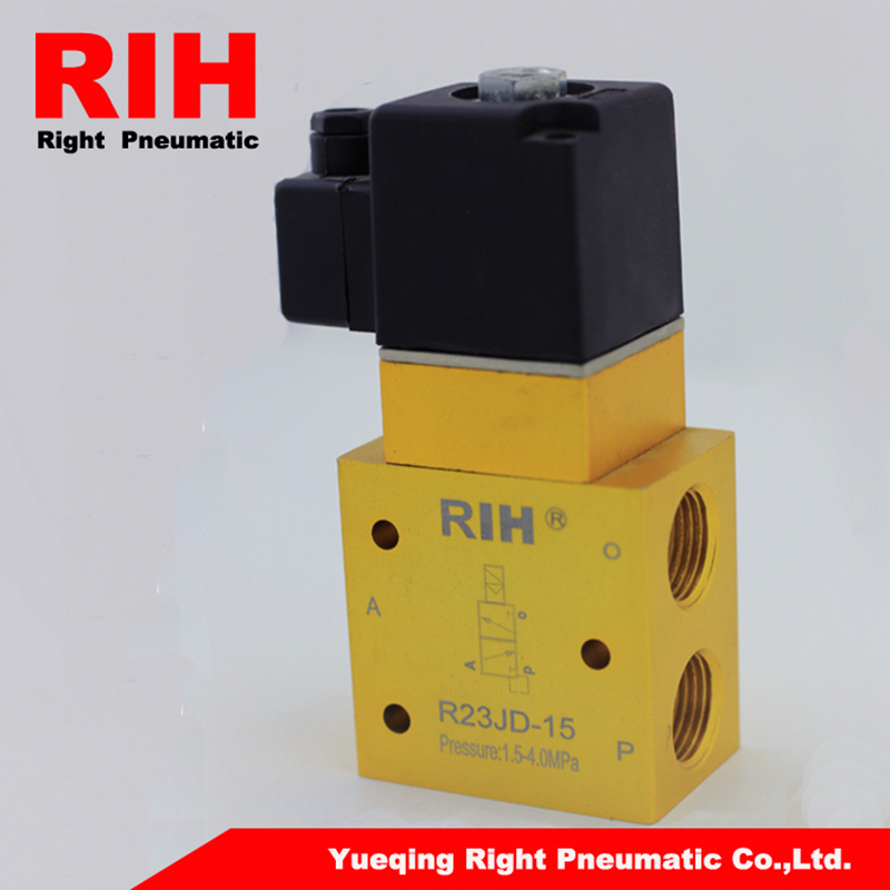 RIH Pneumatics High Pressure Solenoid Valve R23JD-15 with the pressure of 0-4Mpa high pressure processing for the preservation of indian white prawn