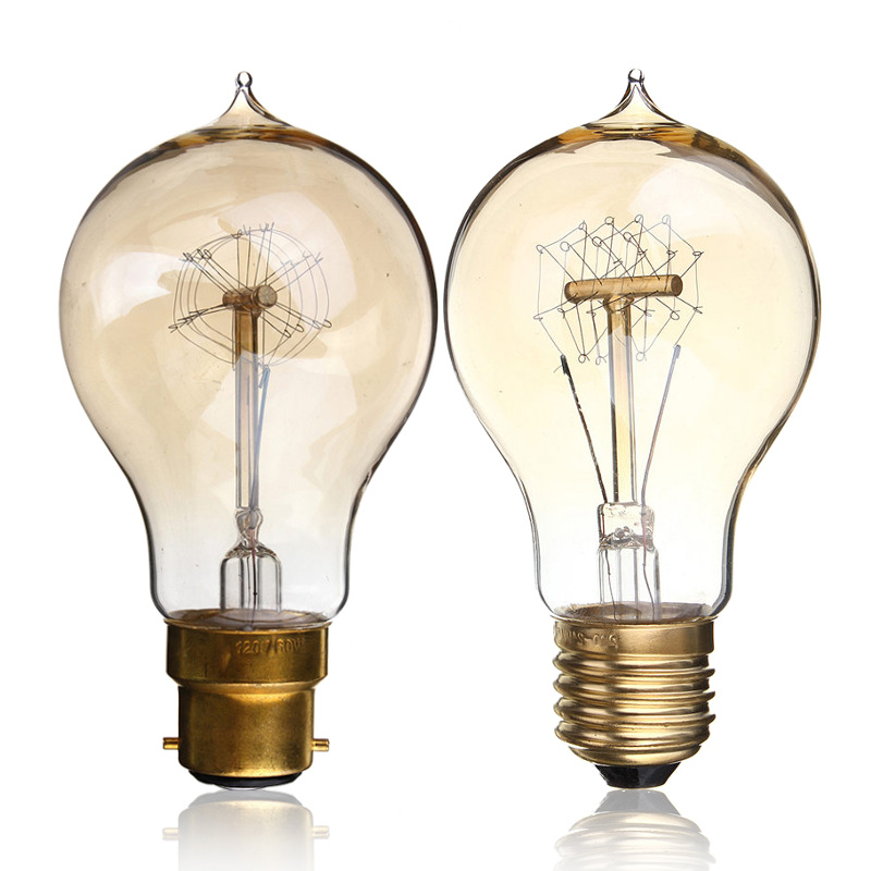 Vintage Edison Bulb E27 B22 A19 40W 60W Antique Filament Lamp Incandescent Pendant Light Bulb Cafe Decor Lighting 110V/220V