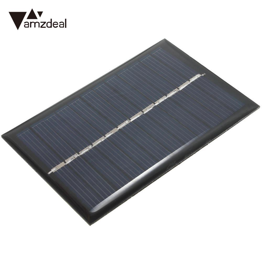 amzdeal 3 pcs 6V 0.6W / 1W Solar Power Panel Module DIY Small Cell Charger For Light Battery Phone Home Travelling Solar Panel