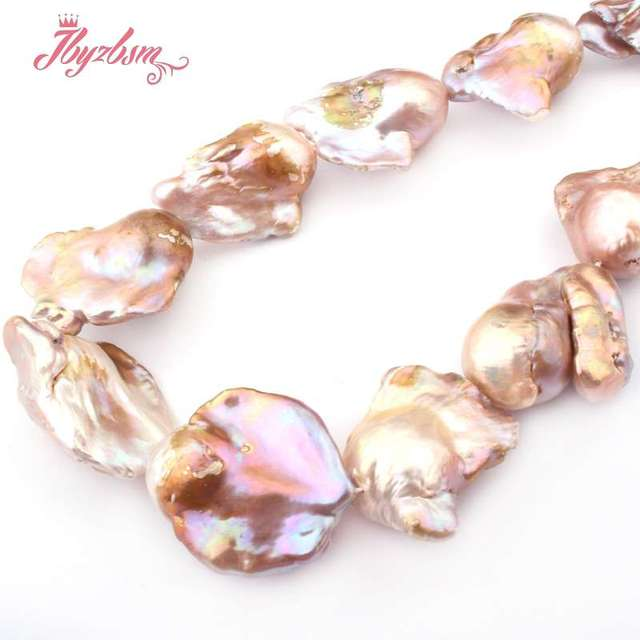 """18x25mm Purple Big Large Nuclear Freshwater Pearl Beads Natural Stone Beads For DIY Necklace Jewelry Making 14.5"""" Free Shipping"""
