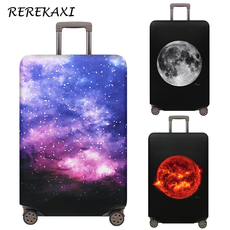 REREKAXI Travel Suitcase Case Cover 18-32 Inch Luggage Cover Trolley Baggage Elastic Dust Protection Covers Travel Accessories