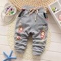 2016 Nueva Primavera otoño bebé pantalones de tres colores pantalones de niño/niña