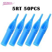 ATOMUS Профессиональный 50 шт одноразовые стерильные насадки для татуировок наконечники иглы трубки палочки 3RT/5RT/9RT иглы трубки машины поставки