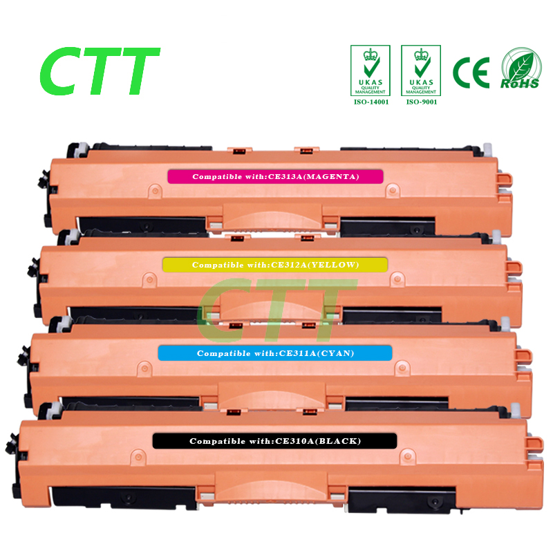 1 set CE310A CE311A CE312A CE313A Toner Cartridge Compatible for HP Laserjet Pro CP1021 CP1022 CP1023 CP1025 color MFP M175 M275 toner reset chip for hp colour laserjet pro m252dw m252n mfp m277dw m277n printer cartridge 201a cf400a cf401a cf402a cf403a