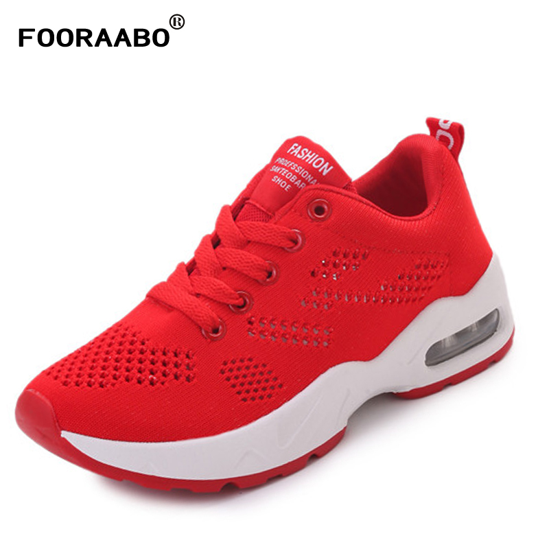 FOORAABO 2017 Fashion Women Casual Shoes Summer Comfortable Breathable Mesh Flats Female Platform Shoes krasovki Chaussure Femme fashion women casual shoes breathable air mesh flats shoe comfortable casual basic shoes for women 2017 new arrival 1yd103