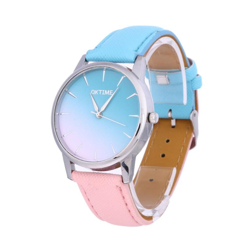 Women Watch Dail Quartz Lover Wristwatch Casual Candy Color Band Quartz Strap Student Watch Leather Clock Reloj Mujer
