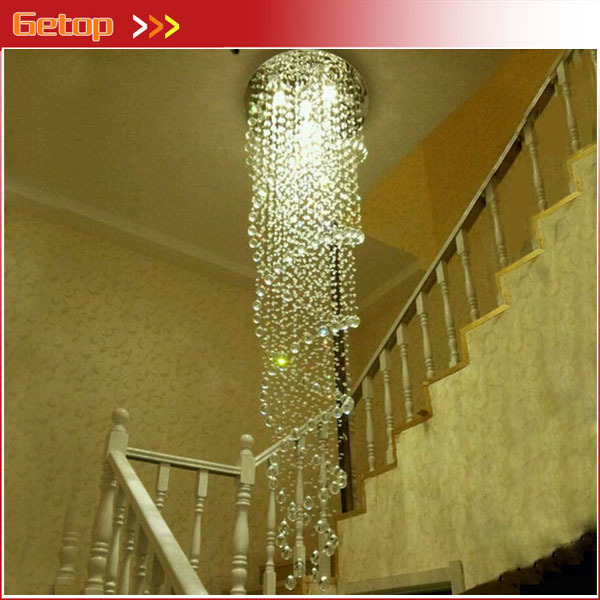Modern New LED Crystal Chandelier Double Spiral Superdense K9 Chandelier Crystal Stair Lamp Hotel Villa Crystal Lights Free Ship zyy modern k9 crystal gu10 led stainless steel chandelier luxury double spiral ceiling light for stair hotel villa lighting