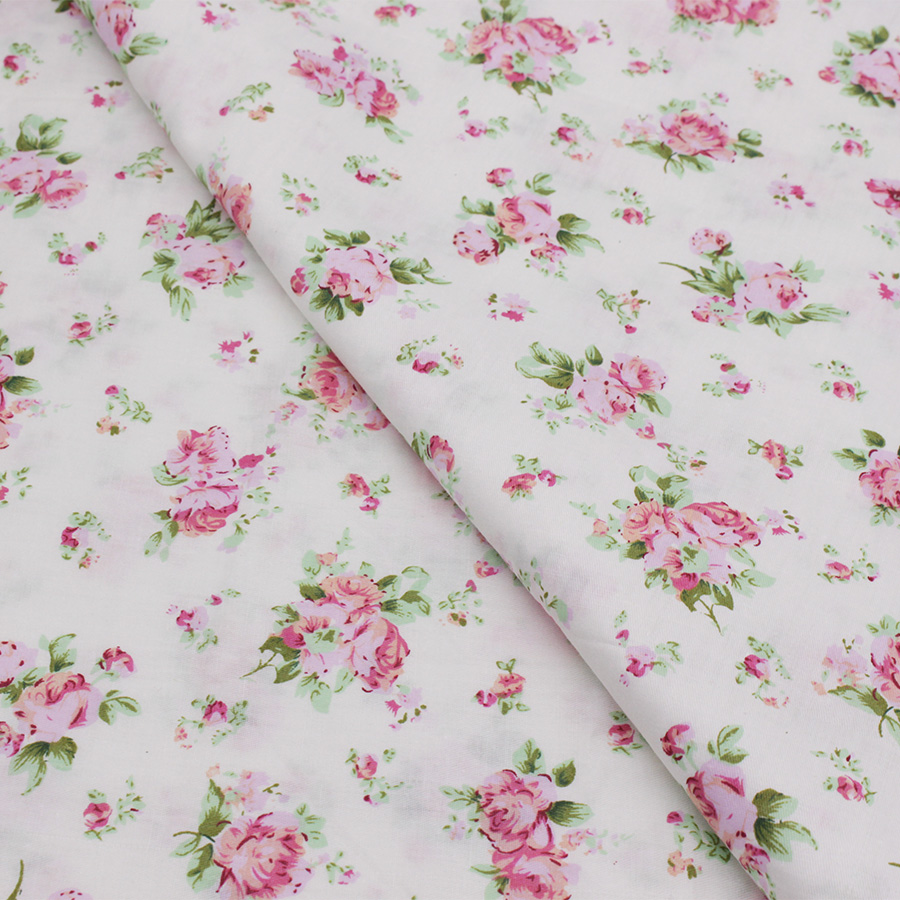 Printed cotton fabric patchwork floral tissue cloth for for Printed cotton fabric