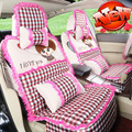 New fashion lovely ladies cartoon winter seat cushion covers sets 11PCS/set for universal car seat covers  seat supports sets