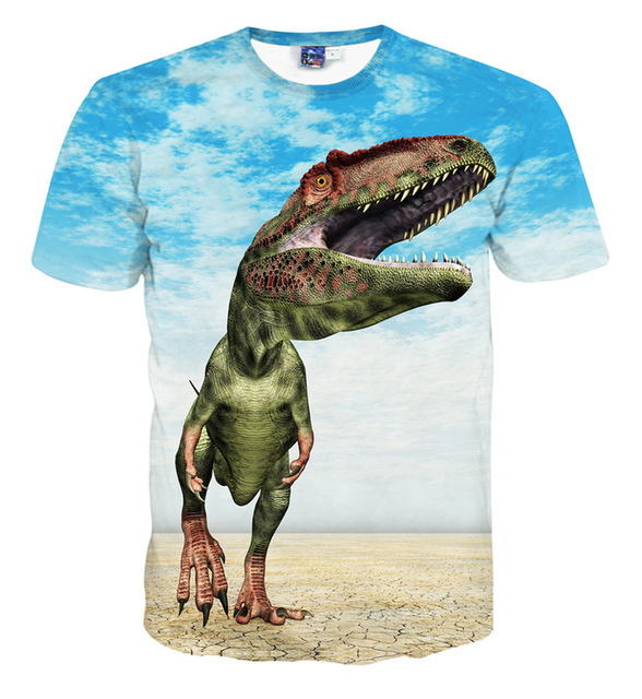 c35cfeb39 Teenage Boys Clothing 3D Dinosaur Pattern Big Boy T-shirts Street Skate  Short Sleeve Big