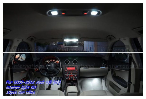 parking led interior light bar kit for car 2009 2012 audi q5 8r led light bar car dome. Black Bedroom Furniture Sets. Home Design Ideas