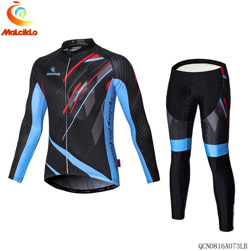 цена на Pro Team Cycling Jersey Set Long Sleeve Mountain Bike Clothes Wear Maillot Ropa Ciclismo Racing Bicycle Bib Shorts