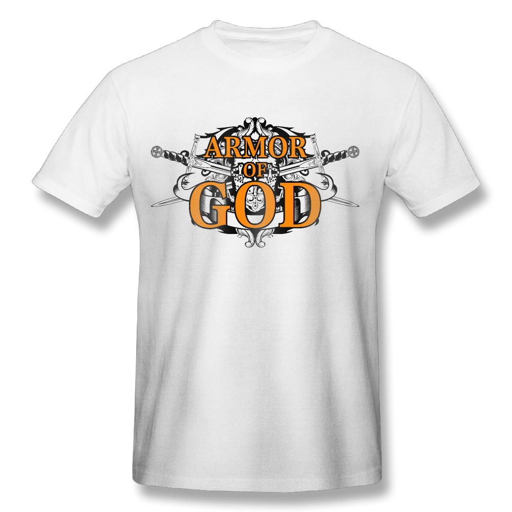 2017 armor of god christian print t shirts man funny for Unique custom t shirts