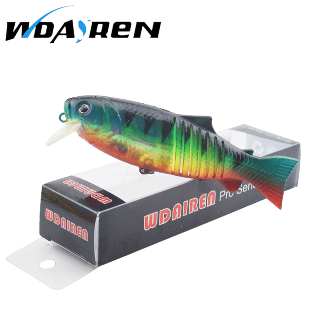 WDAIREN 1Pcs carp fishing Soft Tail Hard wobblers Noisy Steel Balls Long Range Casting Lure 10cm 20g  Minnow FA-024