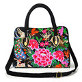 New Brand Esloth For IPad Embroidered Canvas bag High Quality Fashion 32cm*10cm*36cm National female bag