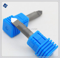D6XL40X35degreeX0 6mm PCD Engraving Cutter PCD CNC Carving Tools Stone Engraving Bits On Hard Granite