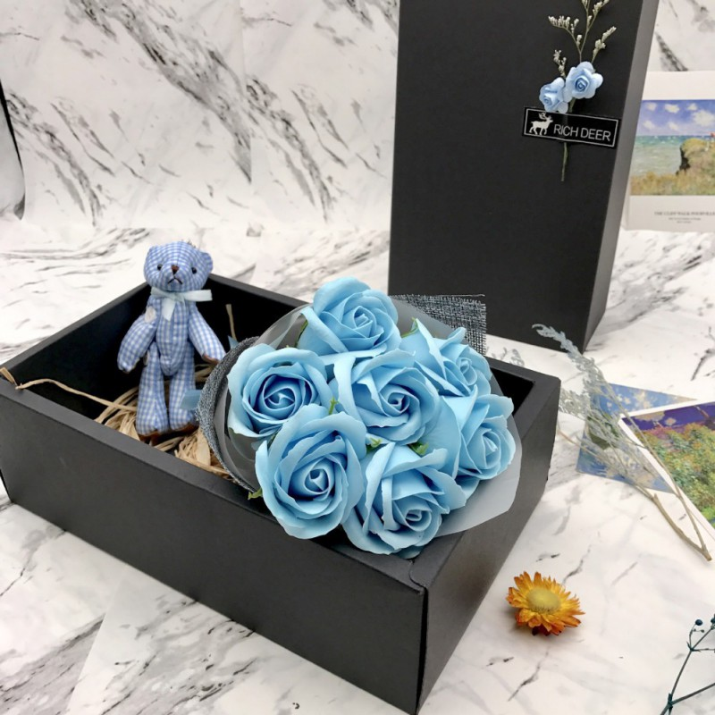 Beautiful Seven Hardcover Soap Flower Gift Set DIY Soap Flowers Birthday Mother 39 s Day Valentine 39 s Day Gift Party Supplies Decor in Artificial amp Dried Flowers from Home amp Garden