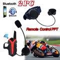 2017 Llegada! 2 unids X3 Más Grupo de Bicicleta De La Motocicleta Impermeable Del Casco de Bluetooth Headset Intercom 3 KM walkie talkie PTT Control