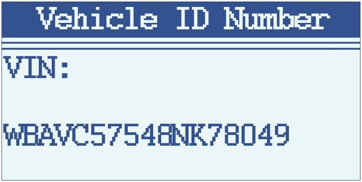 Vehicle ID Number