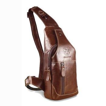 Bullcaptain الرجال الأزياء جلد طبيعي الأعمال عارضة أسود حقيبة كتف Crossbody حقيبة عالية الجودة الذكور الجلدية حقيبة صدر للرجال