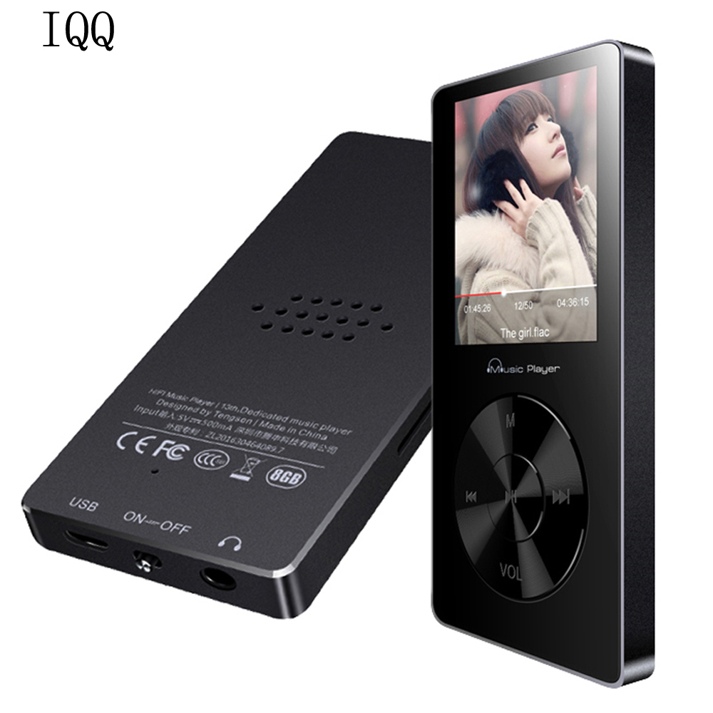 Original IQQ X05 MIni MP3 8GB lossless sport MP3 Music player 1 8 metal Portable MP3