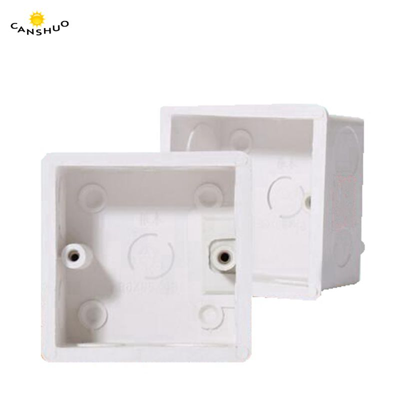 Canshuo 86 86 50 Pvc Switch Panel Mounted Square Corners