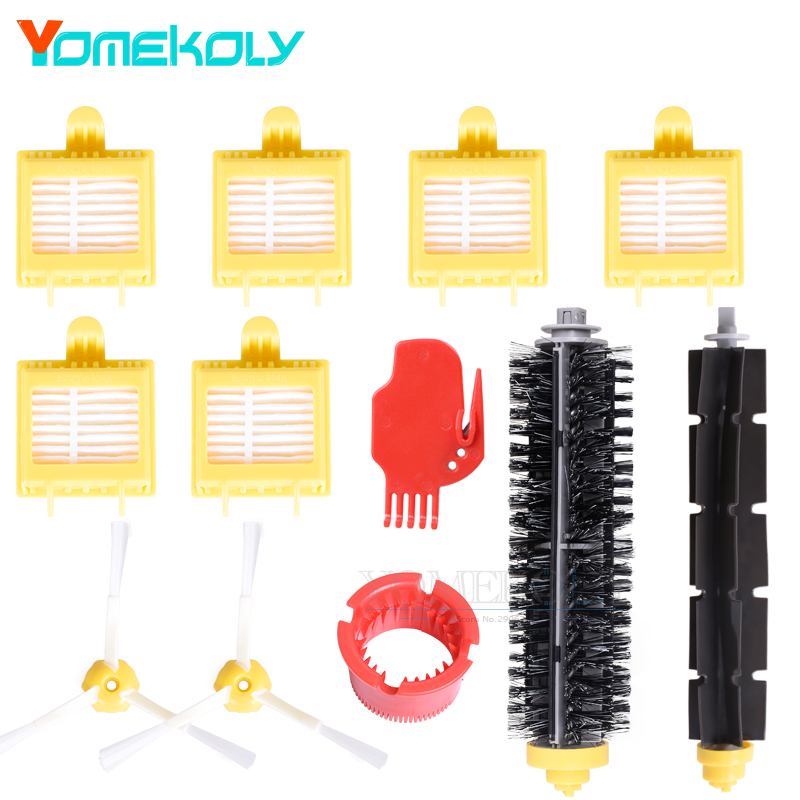 6PCS Hepa Filter 2PCS Side Brush 1Set Bristle & Flexible Beater Brush for iRobot Roomba 700 Series Vacuum Cleaner Replace Kits 11 11 free shipping adhesive sander back pad sanding machine mat black white for makita 9035