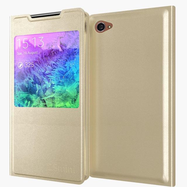 new style bd102 e2b9a US $2.38 40% OFF|Z5 Mini Leather Flip Case For Sony Xperia Z5 Compact / Z5  Mini E5803 E5823 Luxury Ultra Slim View Window Cover Mobile Phone Bag-in ...