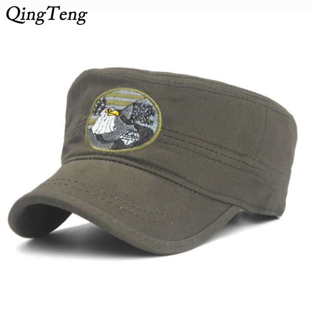 0d096b9ac84900 Branded Vintage Military Hats For Men Women Baseball Caps Sun Visor Army  Flat Top Hats Military Soldier Hat Unisex