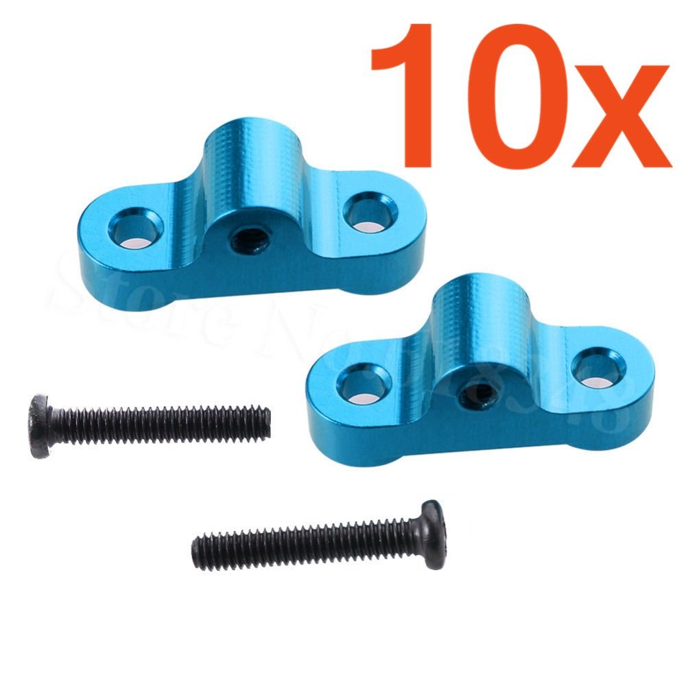 10x Aluminum Rear Upper Tie Rod Mount Base 0039 For WLtoys 12428 12423 1/12 RC Car Crawler Short Course Truck Spare Metal Parts