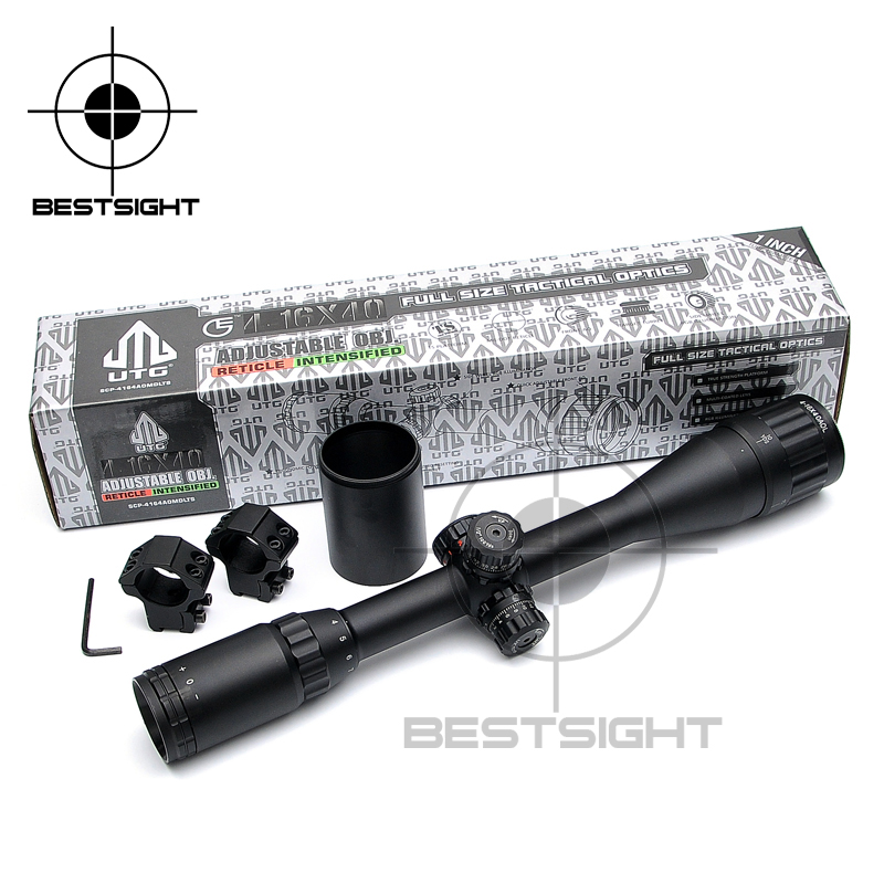 ФОТО UTG 4-16X40 Optics Riflescope Full Size AO Mil-dot RGB Zero Locking Resetting Rifle Scope Long Eye Relief Rifle Scope Hunting
