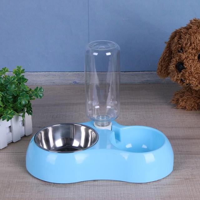 Multifunction Pet Bowl Dog Feeder Dogs Automatic Water Bottles Puppy Dog Cat Bowl Pet Water Drinker Dispenser Bowl