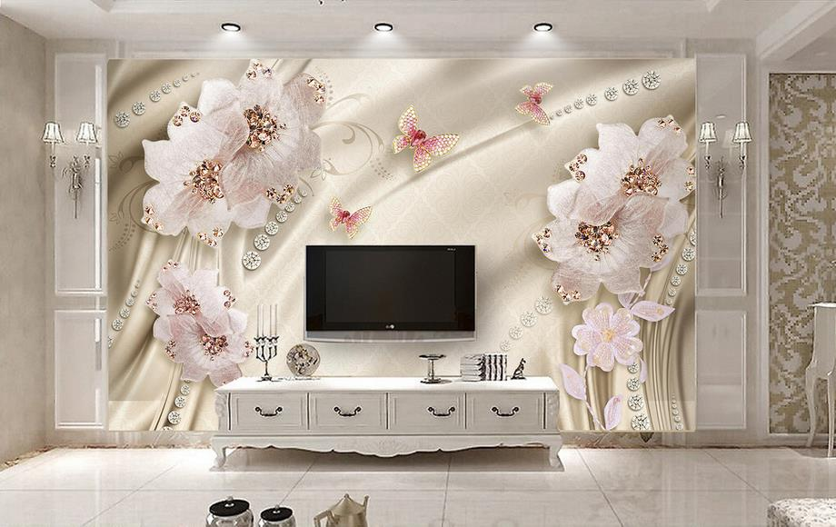Aliexpress.com : Buy Custom 3d Wallpaper Luxury Flowers 3d Photo Wallpaper  Living Room Bathroom Wall Painting Nonwoven Wallpaper Modern From Reliable  3d ... Part 69