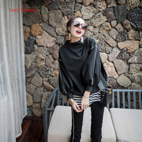 Fairy Dreams 3 Piece Set Women Autumn Black White Pants Suits Pullover Tops And Trousers 2017