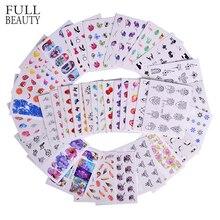 50 шт., набор водных переводных наклеек для ногтей