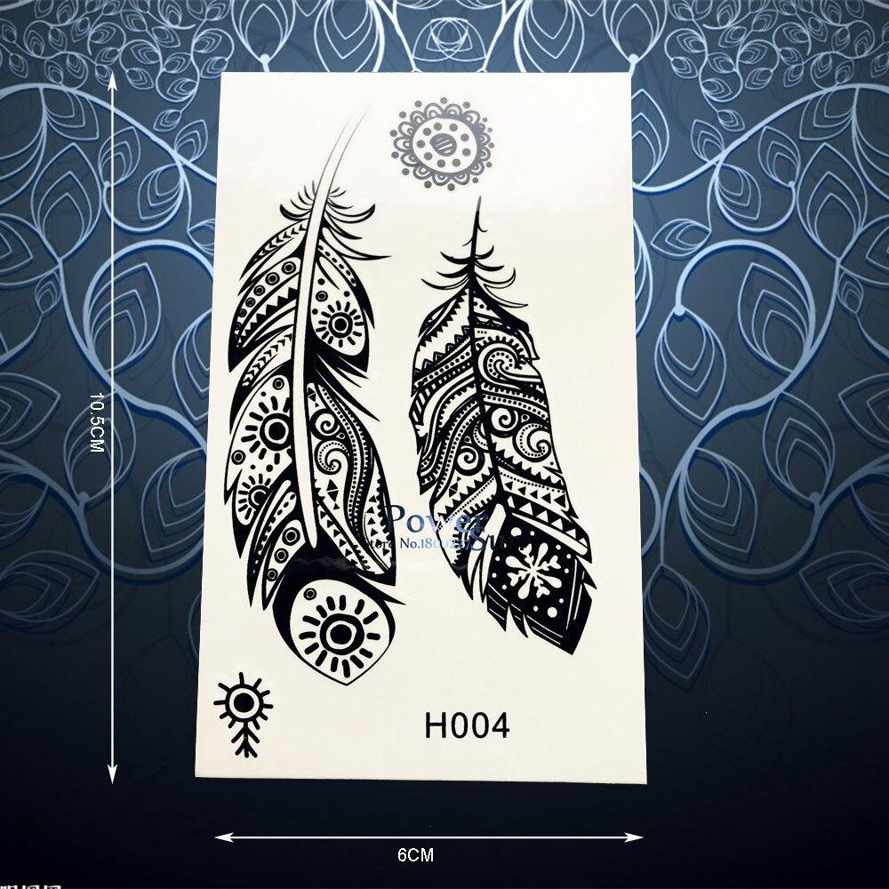 Tribal Henna: Aliexpress.com : Buy Black Tribal Feather Tattoo Sticker
