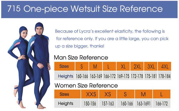 Modis Satu Kepingan Baju Renang Plus Ukuran Wetsuits Likra Berselancar Wanita Berselancar Pakaian Neoprene Setelan untuk Pria Anak-anak Scuba Menyelam