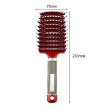 2018 Women Hair Scalp Massage Comb Bristle & Nylon Hairbrush Wet Curly Detangle Hair Brush for Salon Hairdressing Styling Tools