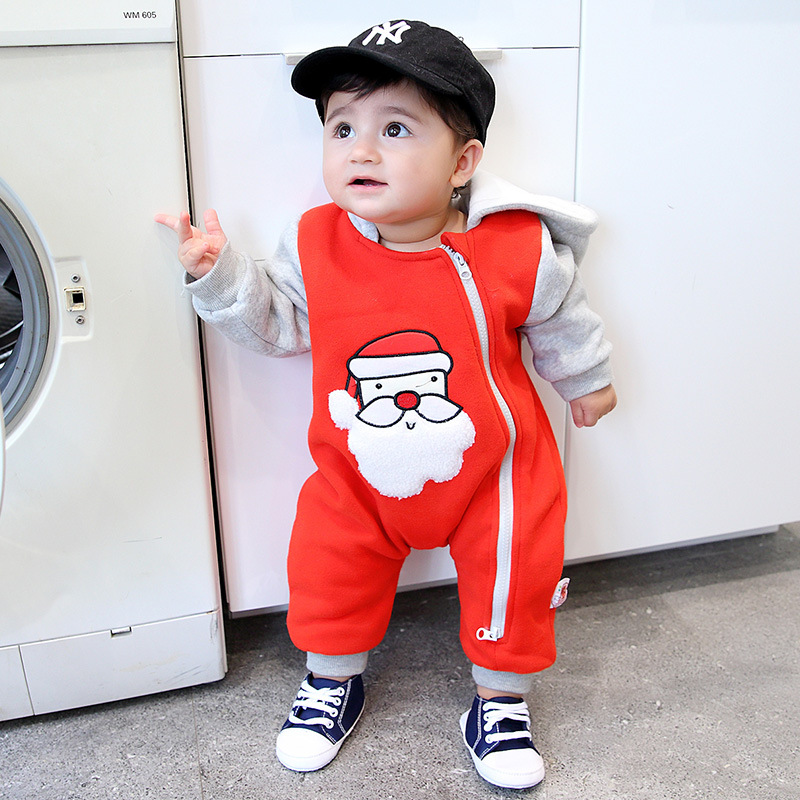 Newborn christmas baby clothes Santa Claus character design hoodie winter baby romper baby boy jumpsuit infant outfit clothes inflatable cartoon customized advertising giant christmas inflatable santa claus for christmas outdoor decoration
