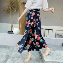 New fashion Spring and Summer new style Beach skirt holiday skirt One-piece wrap skirt chiffon floral skirt
