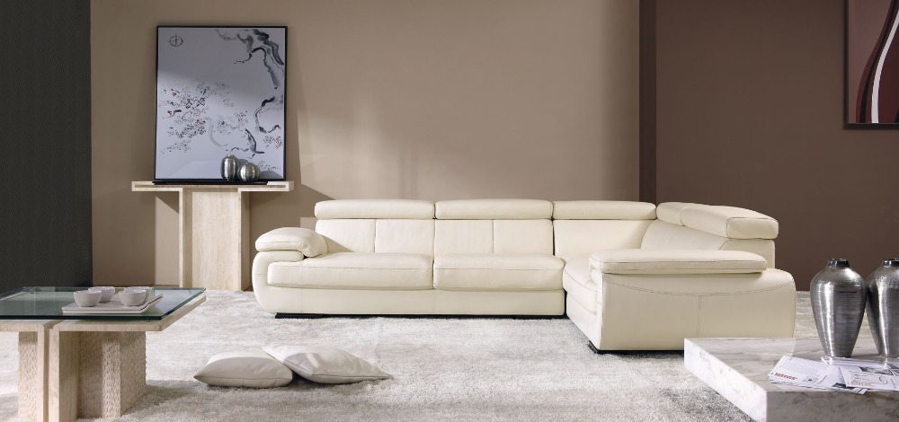 Genuine Leather Sectional Sofa Centerfieldbarcom - Real leather sectional sofa