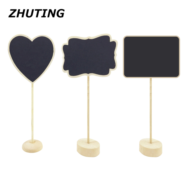Beau 10pcs Tabletop Mini Freestanding Wooden Blackboard Display Chalkboard Sign  Message Board
