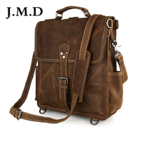 J.M.D 2017 New Arrival 100% Leather Briefcases Men's Cow Leather Messenger Shoulder Bag Handbags 7316
