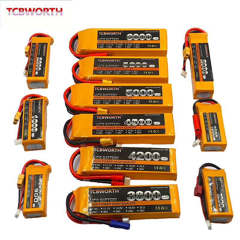 3S 11.1V RC LiPo Batterie 1100 1300 1500 1800 2200 2600 3000mAh 25C35C60C Pour Avion RC Quadrirotor Drone Avion 3S Batteries