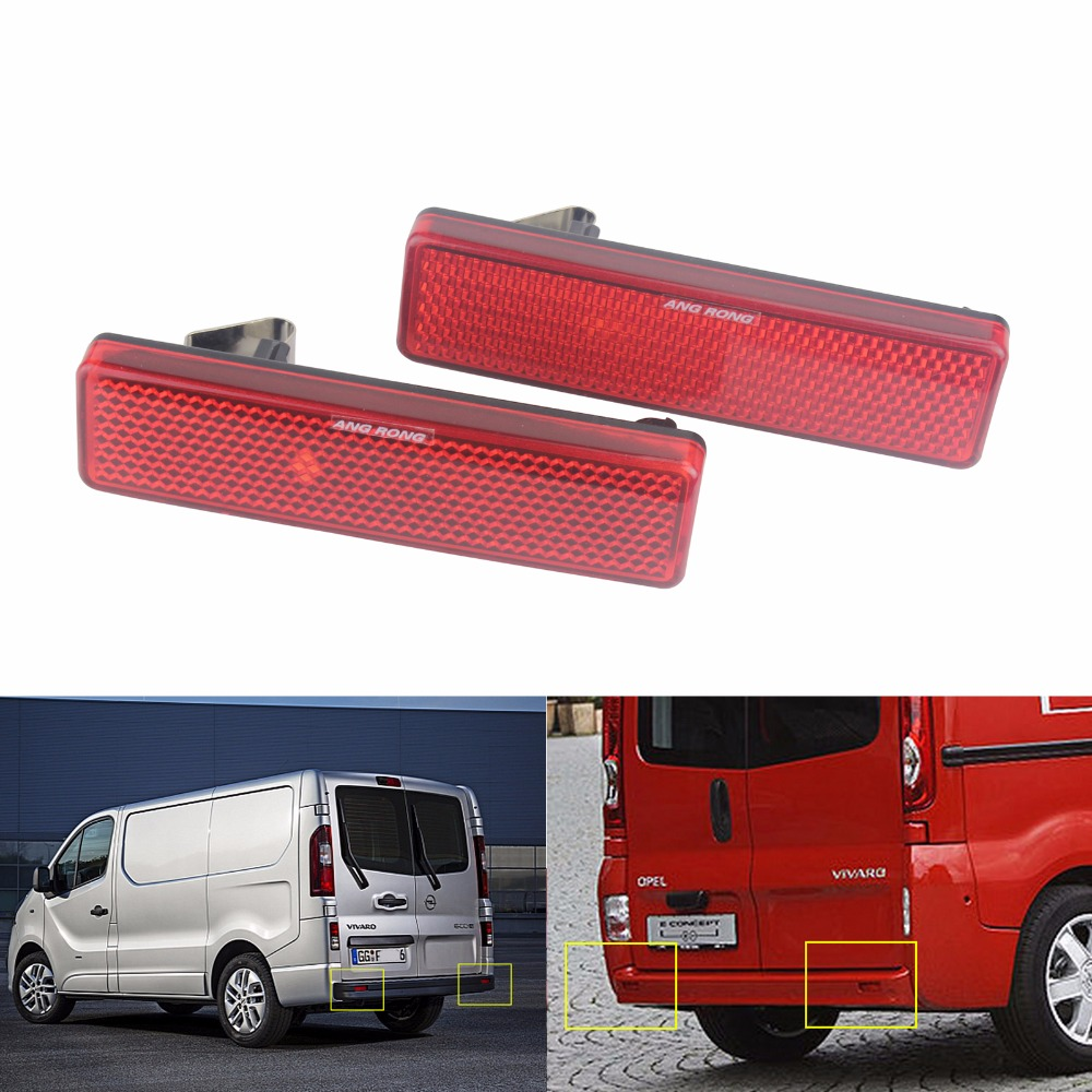 ANGRONG Car Accessories Tail Light Bars Red Lens Rear Bumper Reflector For Vauxhall Opel Nissan Renault Master Trafic in Car Light Assembly from Automobiles Motorcycles