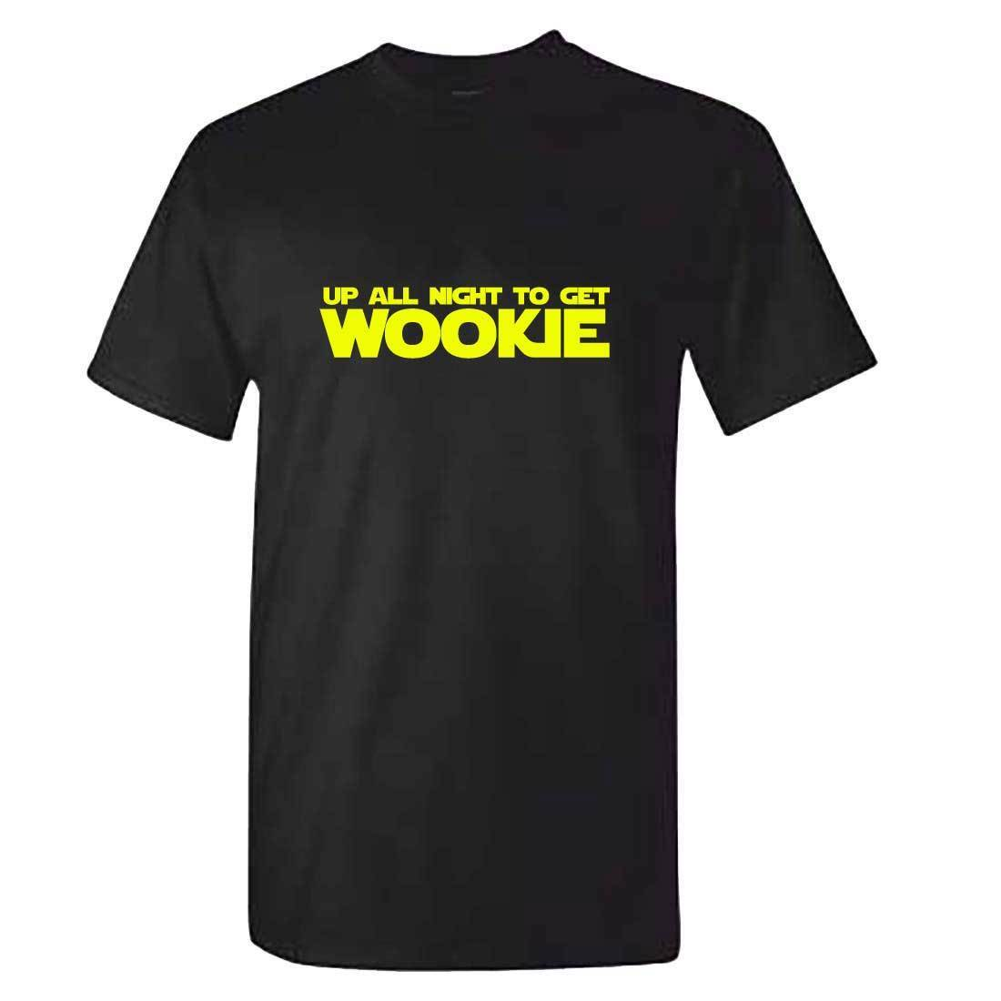 Up All Night To Get Wookie TShirt - Mens Boys Star Wars <font><b>Daft</b></font> <font><b>Punk</b></font> Ideal Gift Cool Casual pride <font><b>t</b></font> <font><b>shirt</b></font> men Unisex Fashion image