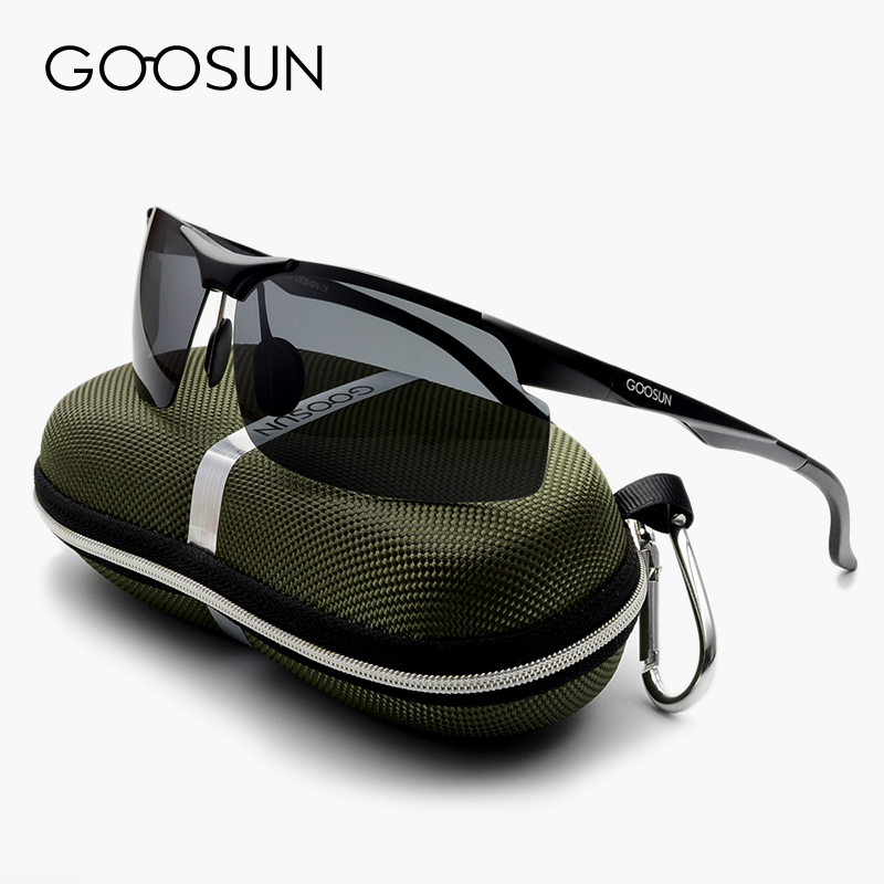 Aluminum Luxury Brand Polarized Sunglasses Men Sports Sun Glasses Driving Mirror High Quality Eyewear Male Accessories With box
