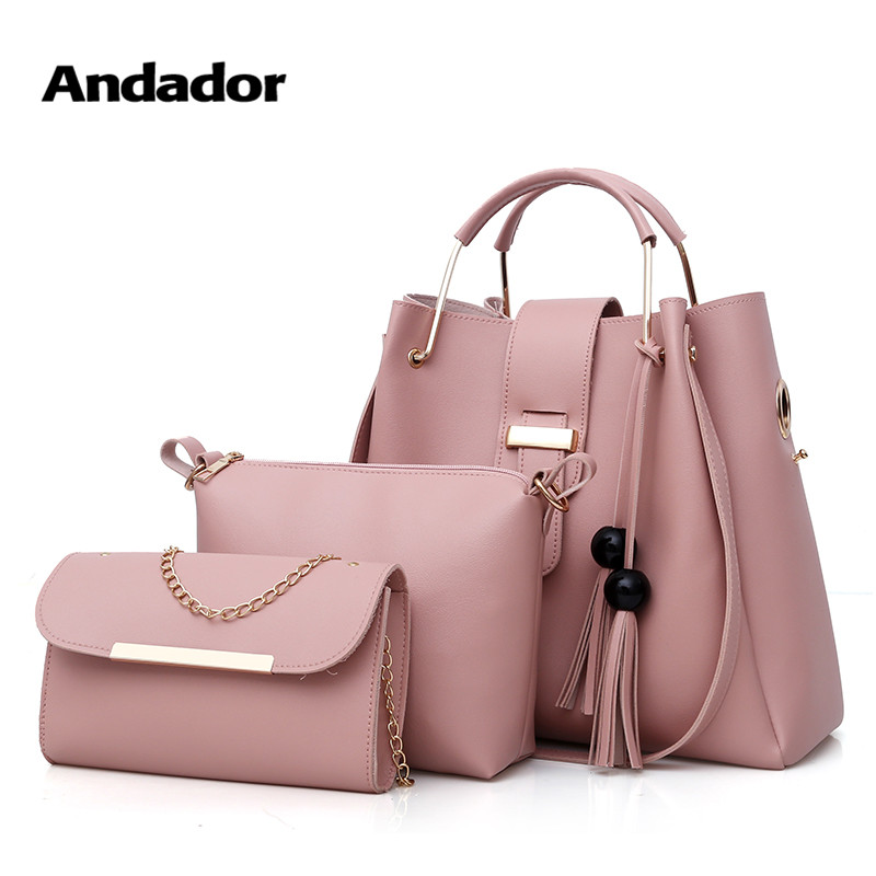 Top-handle bags fashion women pu totes large capacity 3 set handbags three set crossbody bags high quality ladies messenger bagTop-handle bags fashion women pu totes large capacity 3 set handbags three set crossbody bags high quality ladies messenger bag
